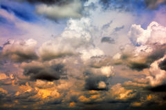 tempête de nuages Photos libres de droits