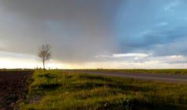 Tempête de pluie à l'horizon photo libre de droits