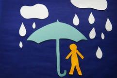 Tempête de pluie Image stock