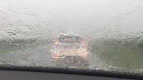 Tempête de pluie banque de vidéos