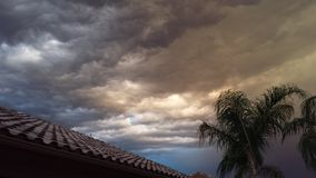 Tempête de pluie de l'Arizona Image libre de droits
