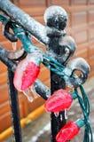 Tempête de pluie verglaçante Images libres de droits
