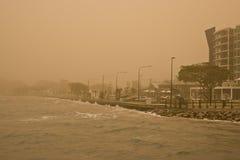 Tempête de poussière photographie stock