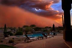 tempête de poussière d'été Images libres de droits