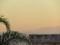 Tempête de poussière - Kinneret et Golan Heights Photo libre de droits