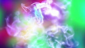 Tempête de poussière Varicolored, illustration 3d abstraite Image stock
