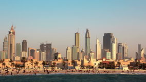 Tempête de sable à Dubaï banque de vidéos