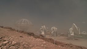 Tempête de sable chez ALMA Base Camp clips vidéos