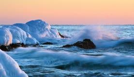 Tempête de soirée d'hiver photographie stock libre de droits