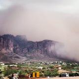 Tempête du désert Images stock