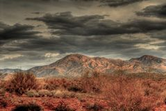 tempête du désert Image libre de droits