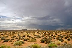 Tempête du désert Arizona photographie stock