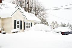 Tempête du février 2010 Photos stock