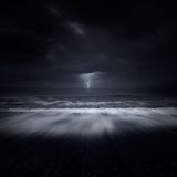 Tempête en mer Image stock