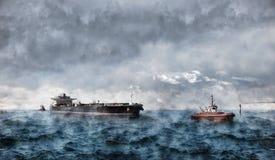 Tempête en mer Photographie stock