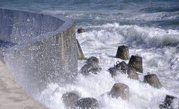 Tempête en mer Photographie stock libre de droits