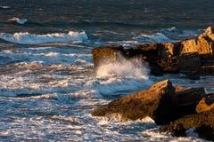 Tempête en mer baltique Photo stock