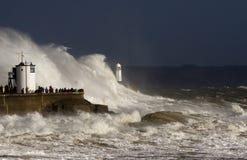 Tempête Ophélie battant Porthcawl Image libre de droits