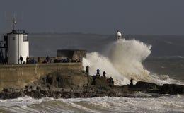 Tempête Ophélie battant Porthcawl Photo libre de droits
