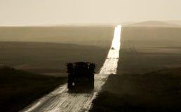 Tempête rurale de route de campagne de Saskatchewan photos stock