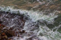 Tempête sur l'océan Photographie stock