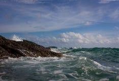 Tempête sur la mer photo libre de droits