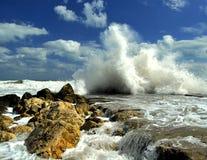 Tempête sur la mer Image libre de droits