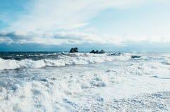 Tempête sur la Mer Noire Crimée photo libre de droits