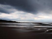 Tempête sur une plage Images stock