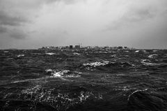 Tempête tropicale de mousson dans des islans des Maldives Photo libre de droits
