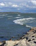 Tempêtes dans le lac Erie Images libres de droits