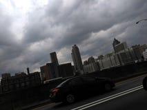 Tempêtes de pluie brassant dans la région d'Atlanta photographie stock libre de droits