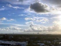 Tempêtes de soirée au-dessus de Caloundra 6 photo libre de droits