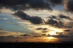 Tempêtes de soirée au-dessus de Caloundra 5 Photos stock