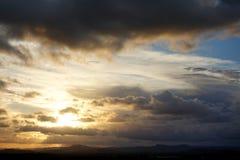 Tempêtes de soirée au-dessus de Caloundra 4 photo libre de droits