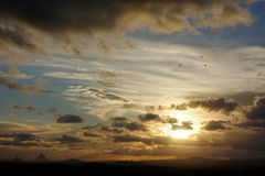 Tempêtes de soirée au-dessus de Caloundra 3 photos libres de droits