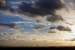 Tempêtes de soirée au-dessus de Caloundra 2 images libres de droits