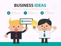 Temp одобрительно работы представления шаржа бизнесмена infographic стоковые изображения rf