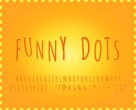 Alphabet Funny dots font effect. With cartoon letters stock illustration