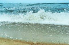 Temp?te de mer, vagues de mer, mer baltique image stock