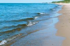 Temp?te de mer, vagues de mer, mer baltique images stock