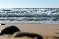 Temp?te de mer, vagues de mer, mer baltique photo libre de droits