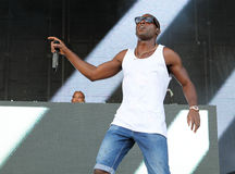 Tempah 010. English rapper, singer, songwriter, record producer and fashion label owner Tinie Tempah performs live during the Ibiza123 festival in the Balearic royalty free stock photos