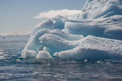 Tempanos in the Antarctic peninsula. Tempanos adrift in the Weddell Sea, Antarctic Peninsula Royalty Free Stock Photography