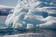 Tempanos in the Antarctic peninsula. stock photo
