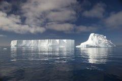 Tempanos en losu angeles półwysep Antartica Fotografia Royalty Free