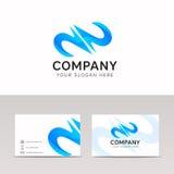 Tempate abstrait de logo de vecteur d'icône d'aqua de l'eau de signe de vague Photo stock