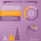 Tempate för infographic stock illustrationer
