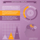 Tempate para infographic Foto de Stock