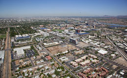 Tempe, Arizona from above Stock Photography